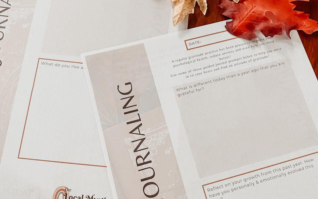 Gratitude Journaling Workbook {Free Download}