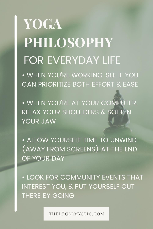 yoga philosophies Pinterest