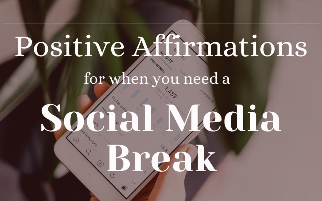 Digital Detox: Positive Affirmations for a Social Media Reset